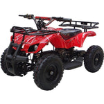 MotoTec V4 24v 350w Electric Powered Mini Quad - Electric Mini Quad Red Ridetique.com