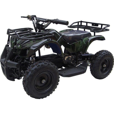 MotoTec V4 24v 350w Electric Powered Mini Quad - Electric Mini Quad Camo Green Ridetique.com