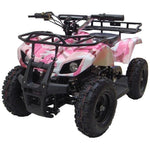 MotoTec V4 24v 350w Electric Powered Mini Quad - Electric Mini Quad Pink Ridetique.com