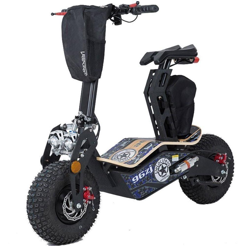 MotoTec Velocifero Mad 48v 1600w  Electric Powered Scooter - Electric Scooter Ridetique.com