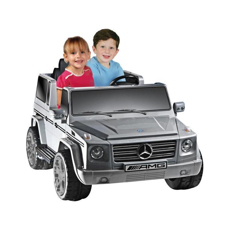 NPL Mercedes Benz G55 12v Electric SUV Truck in Gray - Ride On Toys Ridetique.com