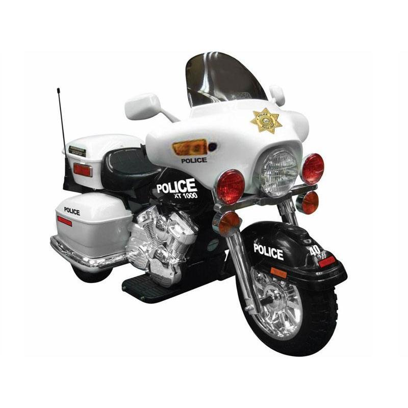 NPL Patrol H. Police 12v Kids Electric Motorcycle - Ride On Toys Ridetique.com
