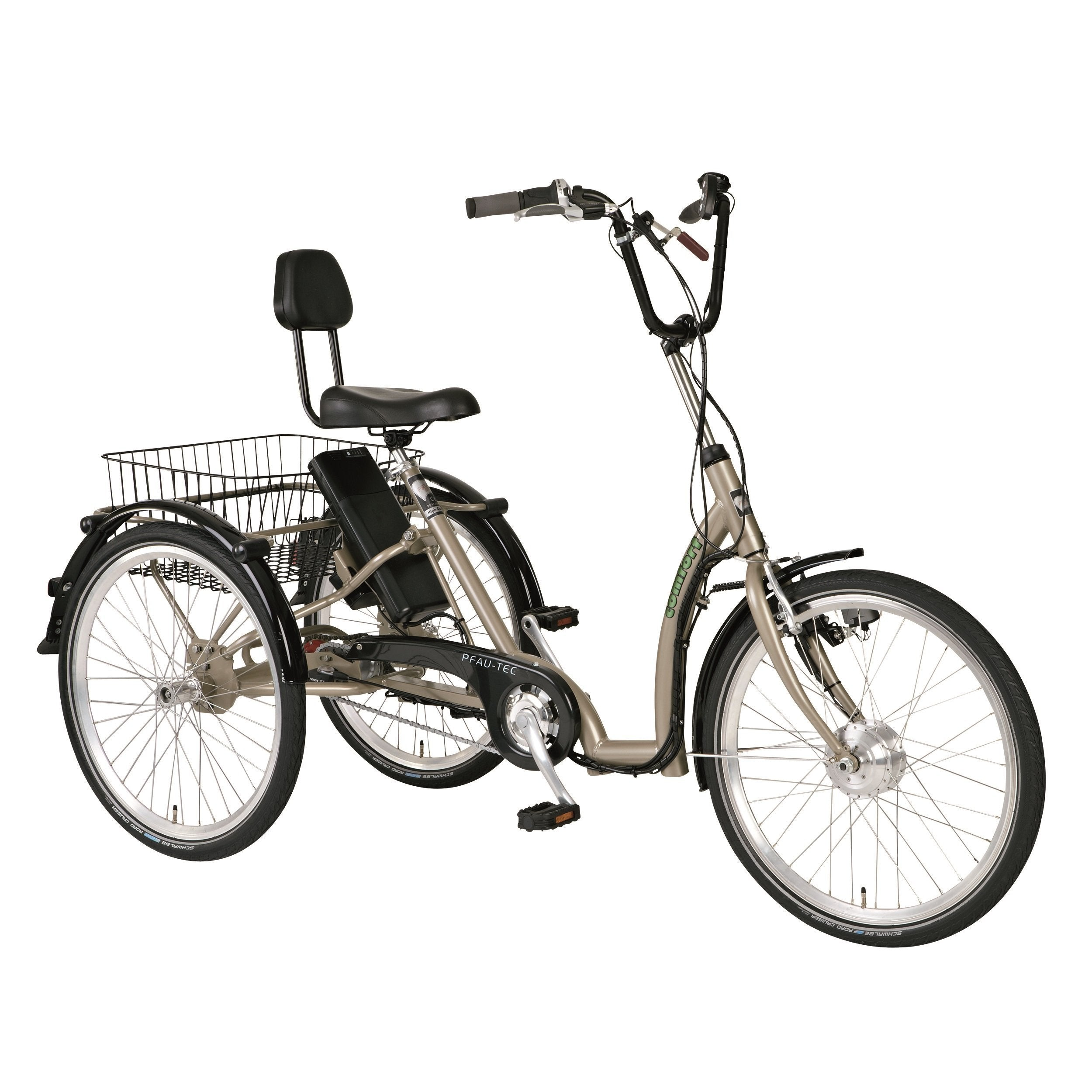 PFIFF Comfort 24 Inch 7-Speed Ansmann Electric Tricycle - Electric Trike Ridetique.com