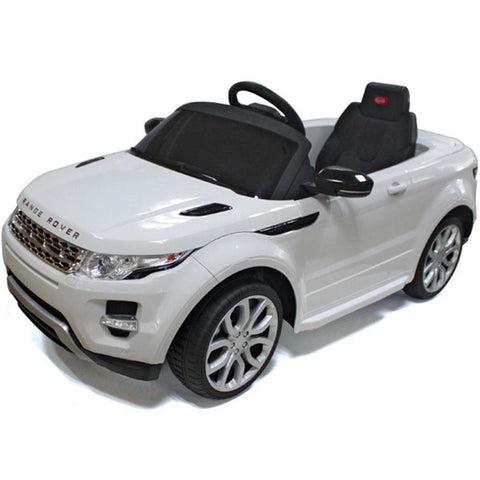 Rastar Land Rover Evoque 12v Electric Car in White - Remote Controlled - Ride On Toys Ridetique.com