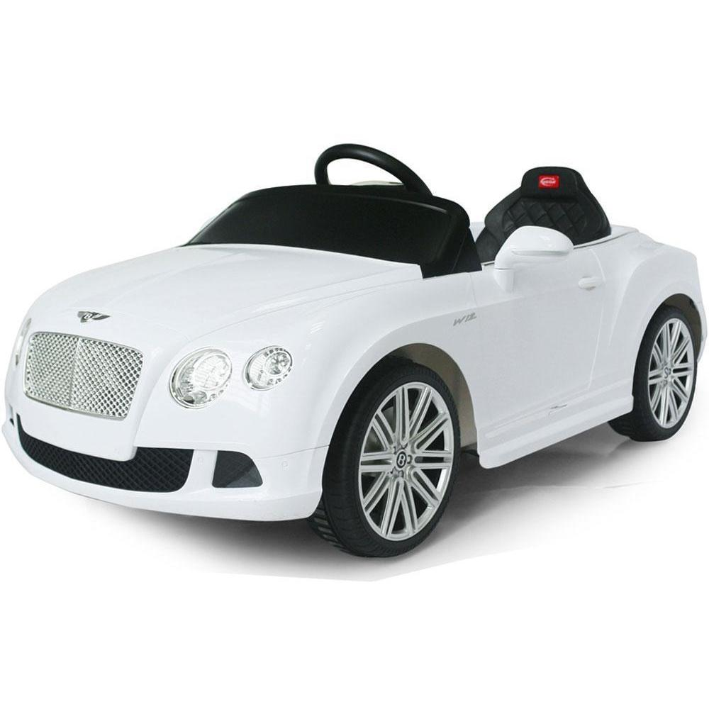 Rastar Rastar Bentley GTC 12v Kids Electric Car in White - Remote Controlled - Ride On Toys White Ridetique.com