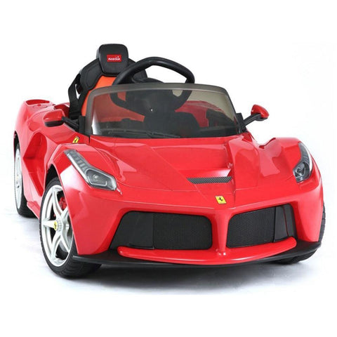 Rastar Red Ferrari LaFerrari Kids 12v Electric Car - Ride On Toys Ridetique.com