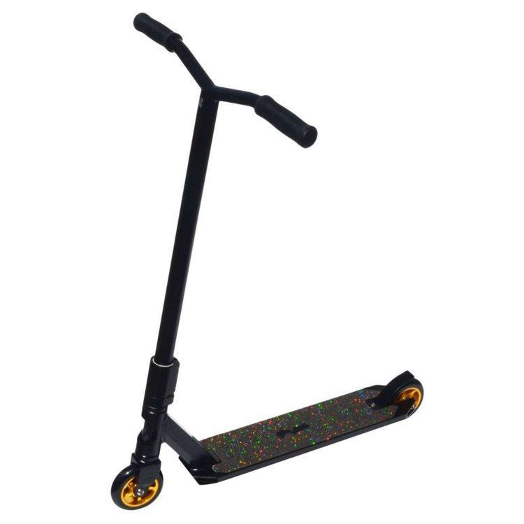 Royal Knight Freestyle Scooter - Black with Gold Accent - Body Powered Scooter Ridetique.com
