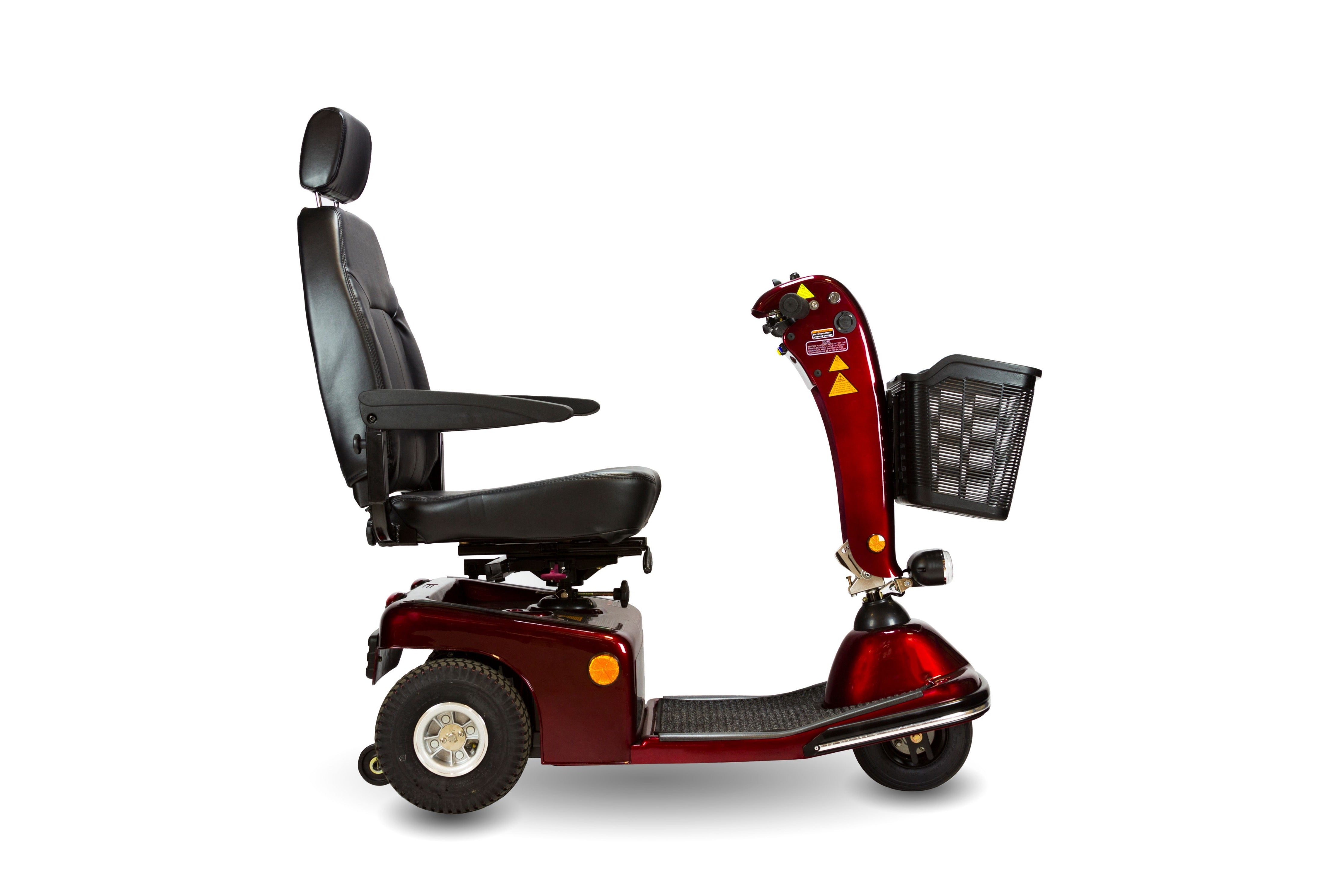 Sunrunner 3 Scooter by ShopRider - 3 Wheels - Mobility Scooter Burgundy Ridetique.com