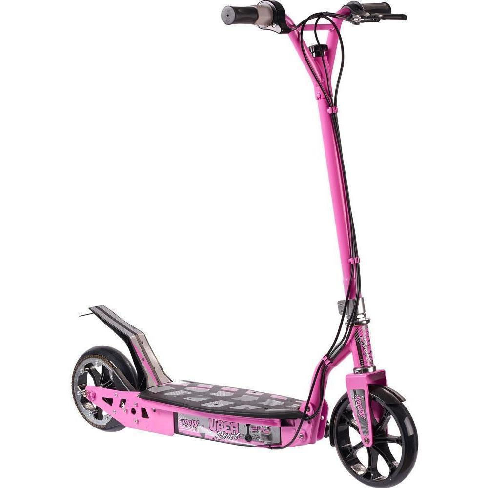 UberScoot 24v 100w Electric Powered Scooter by Evo Powerboards - Electric Scooter Pink Ridetique.com