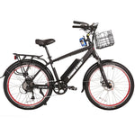 X-Treme Laguna 48v Beach Cruiser Electric Bike - Electric Bike Black Ridetique.com
