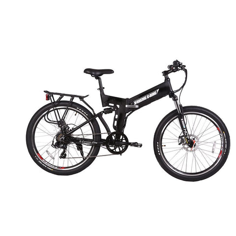 X-Treme X-Cursion Elite 24v 26-Inch Electric Folding Mountain eBike - Electric Bike Black Ridetique.com