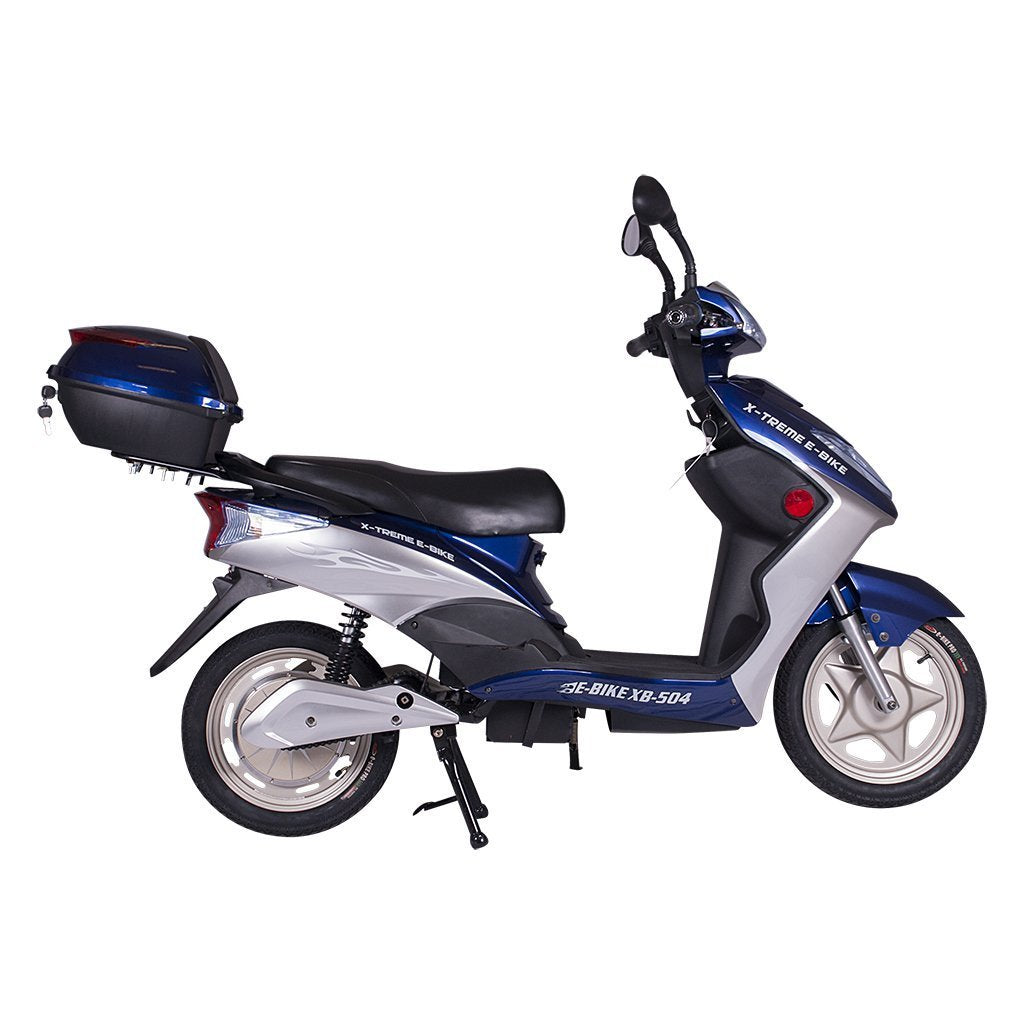 X-Treme XB-504 48v 500wElectric Bicycle/Moped - Electric Bike Blue Ridetique.com
