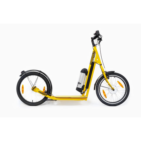 Zumaround Zum Electric Push Scooter - Electric Scooter Yellow Ridetique.com
