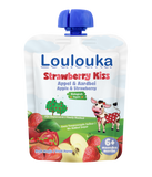 Loulouka Organic Strawberry Kiss - Apple & Strawberry Baby Pouchy (90g) 6 months+