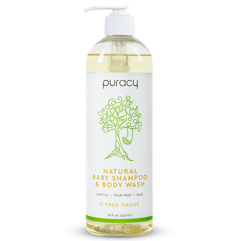 Natural Baby Shampoo & Body Wash -Citrus Grove - 16oz