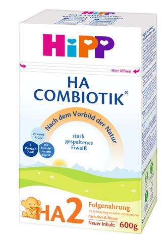 HiPP Hypoallergenic HA2 Combiotic Follow-on Infant Milk Formula (600g) - 6 Mo+ (4 boxes)
