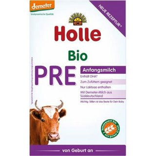 Holle PRE Organic Infant Formula (6 boxes) - With DHA