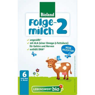 Lebenswert Bio Stage 2 Organic Baby Follow-on Formula (4 Boxes)- with DHA