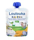 Loulouka Oaty Blues - Banana, Blueberry, Yogurt Baby Pouchy (90g) 6 months+