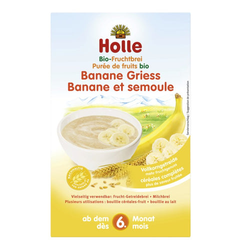 Holle Organic Fruit Porridge Banana-Semolina 250 g