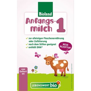 Lebenswert Bio Stage 1 Organic Infant Formula - with DHA