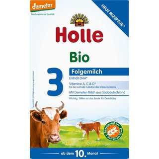Holle Organic Grown-up Milk 3 (3 boxes) - With DHA