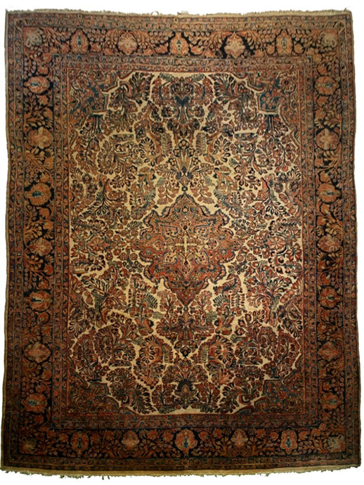 Antique Persian Sarouk Rug <br> 9' x 11' 5