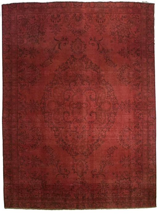Red Overdyed Rug <br> 8' 4