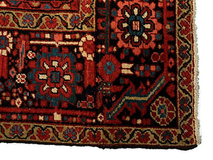 "Antique Persian Heriz Rug <br> 9' 6"" x 12' 8"""