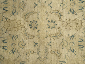 "Square Sultanabad Rug <br> Beige Field, Blue Border <br> 9' 9"" x 9' 10"""