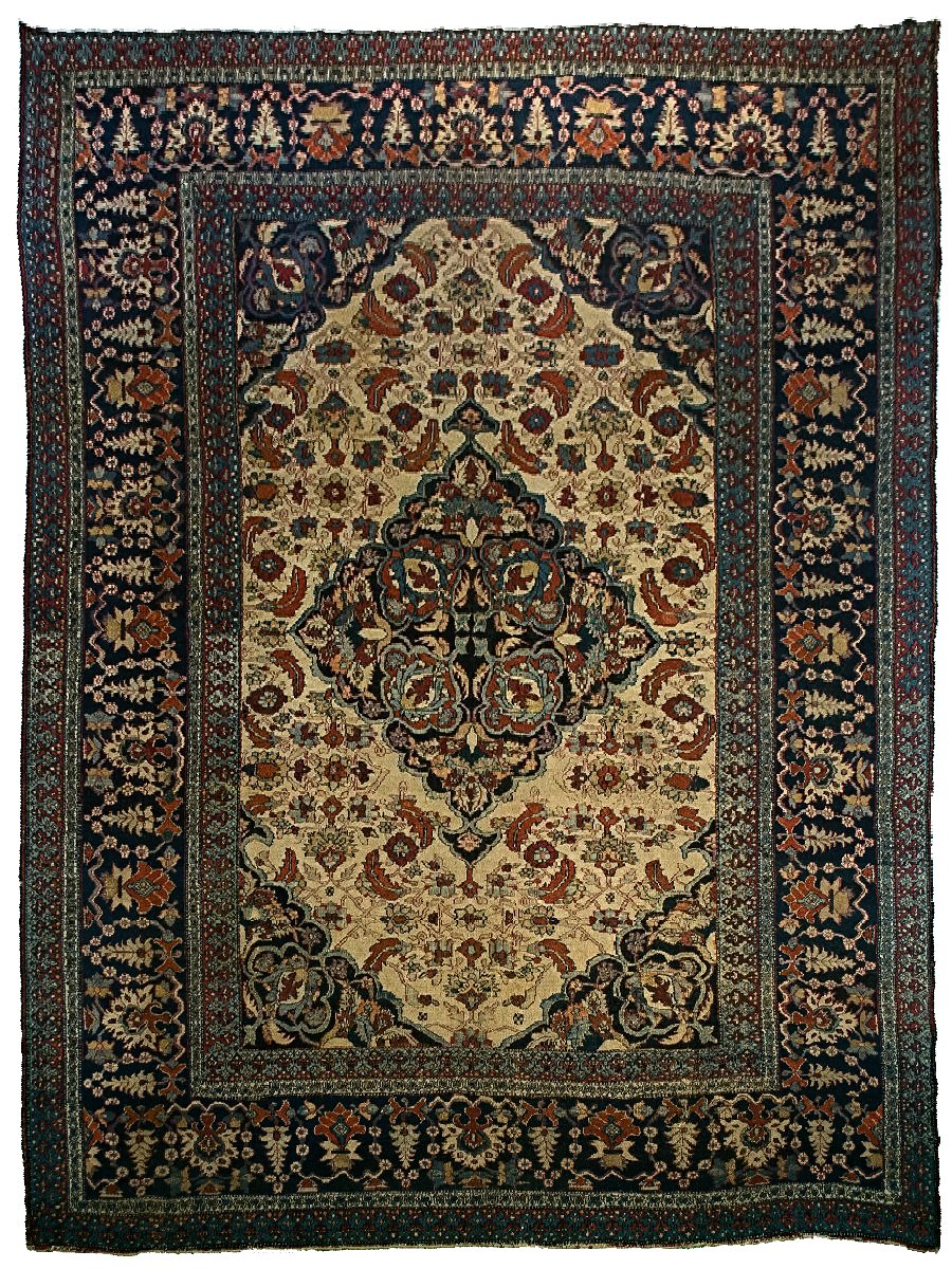 Antique Persian Dorokhsh Rug <br> 8' 6