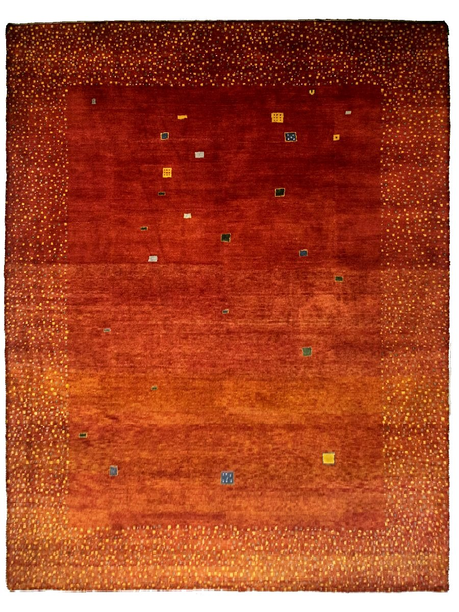 Modern Red Persian Gabbeh Rug - 9' x 12'