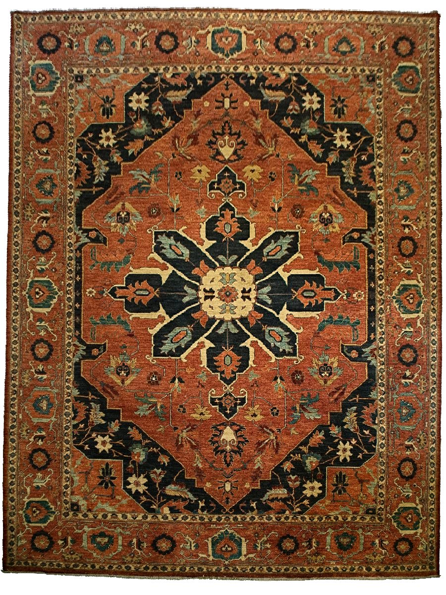 Tribal Heriz Rug - 9' x 12'