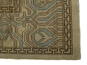 "Faded, Tribal Heriz Rug <br> 8' 10"" x 10' 11"""