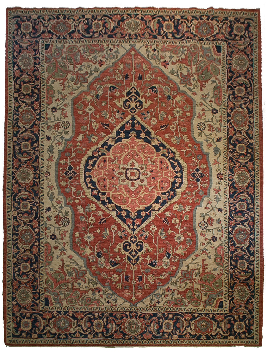 Tribal Heriz Rug <br> 9' 3