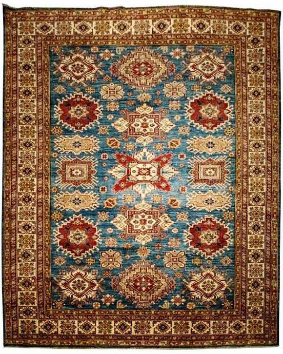Blue Tribal Kazak Rug <br> 8