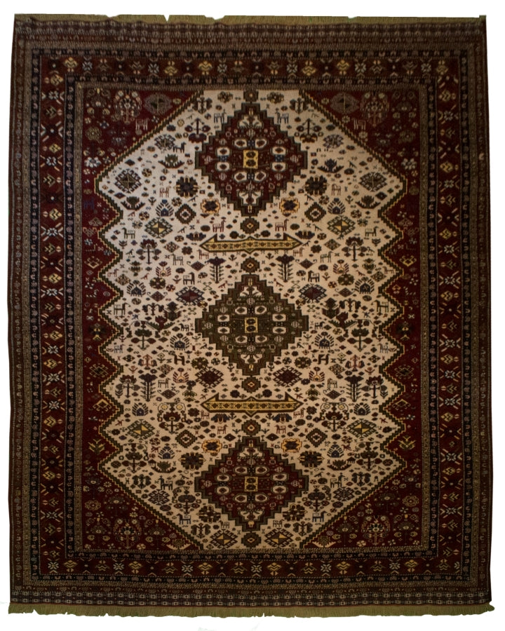 Antique Persian Shiraz Rug <br> 8' 2