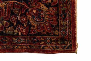 "Antique Persian Sarouk Rug <br> 7' 9"" x 9'"