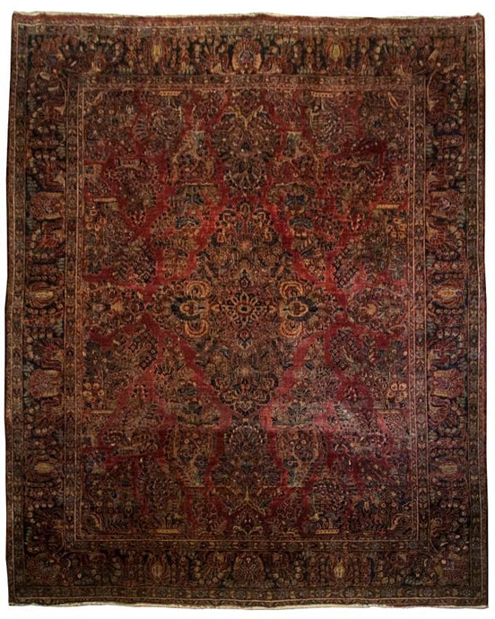 Antique Persian Sarouk Rug <br> 7' 9