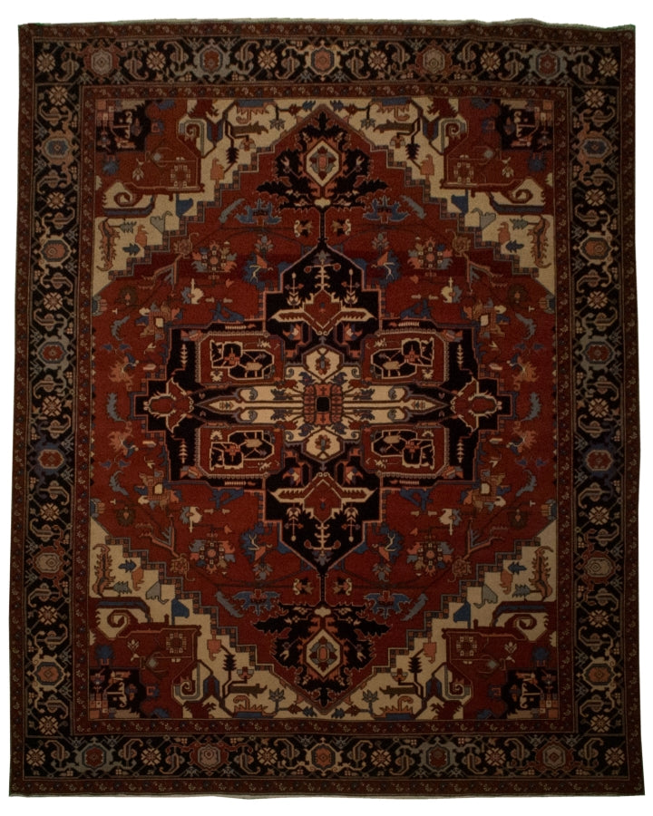 Tribal Turkish Heriz Rug <br> 7' 9