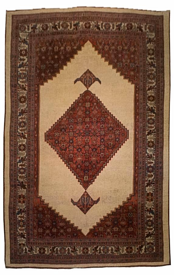 Antique Persian Bijar Rug <br> 7' 6