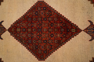"Antique Persian Bijar Rug <br> 7' 6"" x 11' 6"""