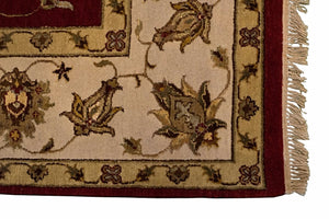 8' x 10' Silk Indian Agra Area Rug - Corner