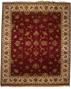 8' x 10' Silk Indian Agra Area Rug