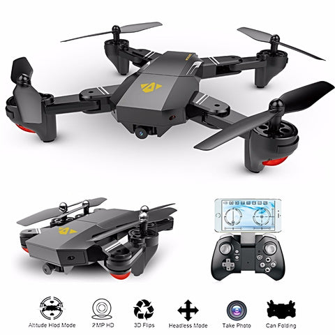 Foldable Selfie Quadcopter WiFi FPV 0.3MP or 2MP Camera XS809HW