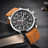 Mens Sporty Chronograph Style Quartz Watch