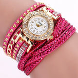 Womens Fashion Bracelet Round Dial Quartz Wrist Watch