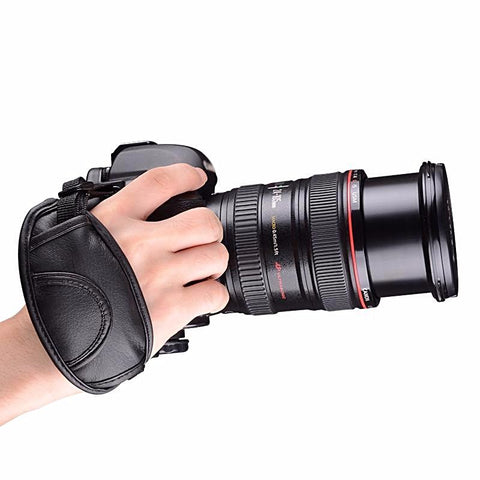 Universal DSLR Camera Leather Hand Strap For Canon Nikon Sony Pentax Minolta Panasonic Olympus Kodak