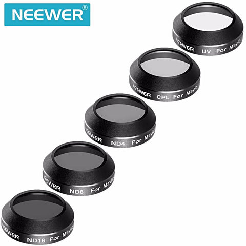 Neewer Multi-oated 5 Pieces ND Filter Kit for DJI Mavic Pro UV/CPL/ND4/ND8/ND16