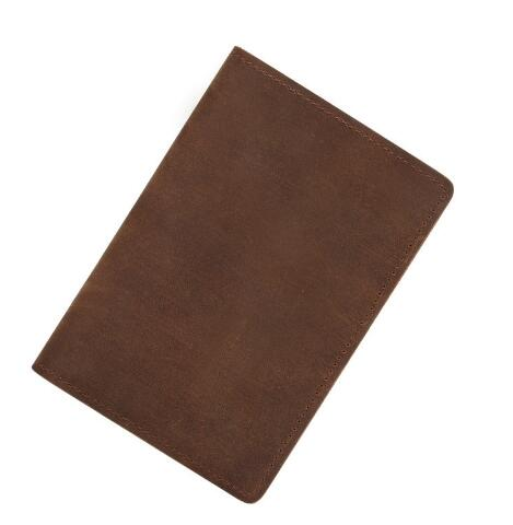 Vintage Look Genuine Leather Passport Cover Wallet
